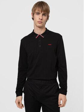 Hugo Hugo Тениска с яка и копчета Donol 211 50442931 Черен Regular Fit