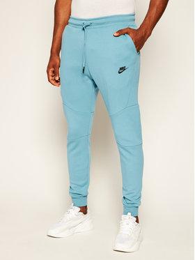 NIKE NIKE Teplákové kalhoty Tech Fleece 805162 Zelená Slim Fit