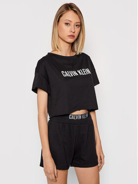 Calvin Klein Swimwear Calvin Klein Swimwear Marškinėliai Intense Power KW0KW01346 Juoda Relaxed Fit