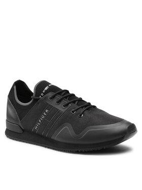 Tommy Hilfiger Tommy Hilfiger Sportcipő Iconic Sock Knit Runner FM0FM03615 Fekete