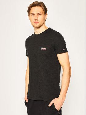 Tommy Jeans Tommy Jeans T-Shirt Texture Logo Tee DM0DM07813 Czarny Regular Fit