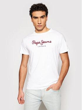 Pepe Jeans Pepe Jeans T-Shirt Eggo PM500465 Λευκό Regular Fit