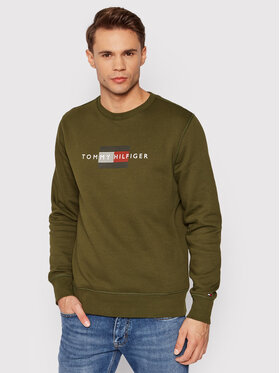 Tommy Hilfiger Tommy Hilfiger Sweatshirt Lines MW0MW20118 Vert Regular Fit
