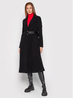 Calvin Klein Calvin Klein Płaszcz wełniany Essential K20K203144 Czarny Regular Fit