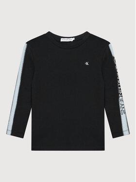 Calvin Klein Jeans Calvin Klein Jeans Блуза Institutional Spray IB0IB00896 Черен Regular Fit