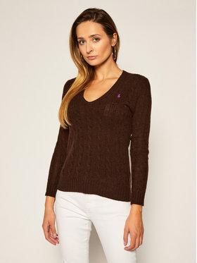 Polo Ralph Lauren Polo Ralph Lauren Sweter Kimberly Wool/Cashmere 211508656072 Brązowy Regular Fit