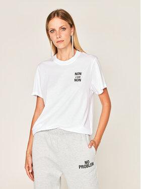 IRO IRO T-Shirt Nonon AN158 Biały Regular Fit