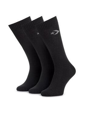 Converse Converse Комплект 3 чифта дълги чорапи мъжки E745B-3020 Черен