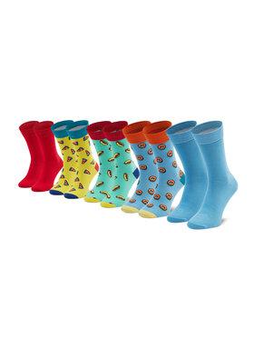 Jack&Jones Jack&Jones Súprava 5 párov vysokých pánskych ponožiek Jacmood Maize 12189915 r. OS Farebná