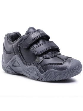 Geox Geox Sneakersy J Wader A J0430A 05443 C0033 S Čierna