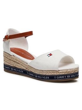 Tommy Hilfiger Tommy Hilfiger Espadryle Rope Wedge Sandal T3A2-31056-0048 Biały