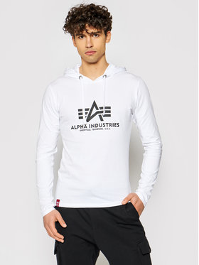 Alpha Industries Alpha Industries Sweatshirt Basic Hooded Heavy Ls 116572 Blanc Slim Fit