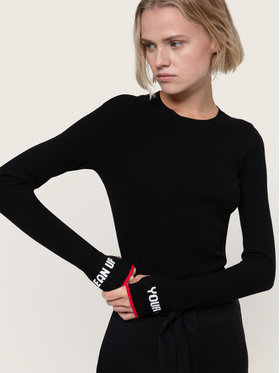 Hugo Hugo Sweater Slogge 50439249 Fekete Slim Fit