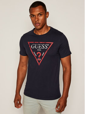 Guess Guess T-Shirt Clear M81I13 I3Z00 Dunkelblau Slim Fit