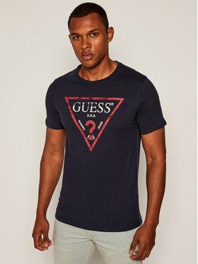 Guess Guess T-Shirt Clear M81I13 I3Z00 Dunkelblau Slim Fit