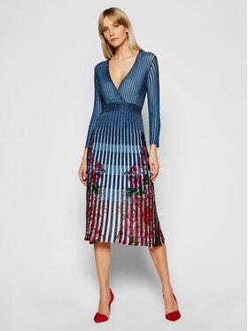 Desigual Desigual Плетена рокля Cloud 21SWVF04 Цветен Slim Fit