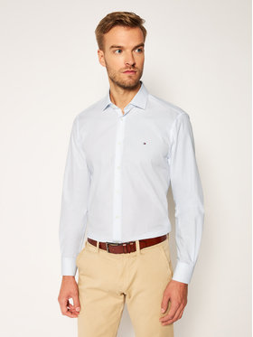 Tommy Hilfiger Tailored Tommy Hilfiger Tailored Koszula Macro Print Classic TT0TT07603 Niebieski Slim Fit