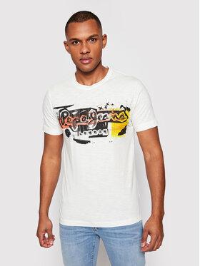 Pepe Jeans Pepe Jeans T-Shirt Amersham PM504034 Béžová Regular Fit