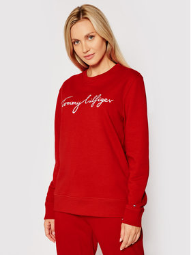 Tommy Hilfiger Tommy Hilfiger Bluza Graphic C-Nk WW0WW30659 Czerwony Regular Fit