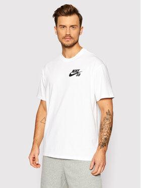 Nike Nike T-Shirt SB Icon DC7817 Bílá Loose Fit