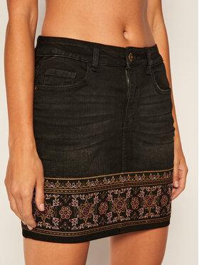 Desigual Desigual Džínsová sukňa Dehli 20WWFD02 Čierna Regular Fit
