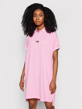 Tommy Jeans Tommy Jeans Hétköznapi ruha Tjw Modern Logo Polo DW0DW09854 Rózsaszín Regular Fit