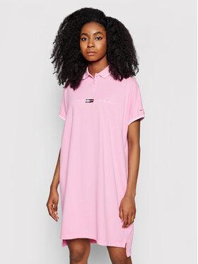 Tommy Jeans Tommy Jeans Φόρεμα καθημερινό Tjw Modern Logo Polo DW0DW09854 Ροζ Regular Fit