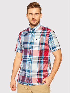 Tommy Hilfiger Tommy Hilfiger Camicia Madras Check MW0MW13919 Multicolore Regular Fit