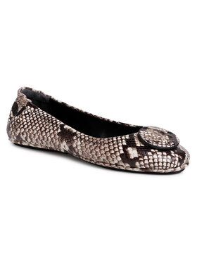 Tory Burch Tory Burch Ballerinas Mimmie Travel Ballet With Leather Logo 75297 Braun