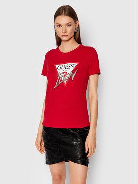 Guess Guess T-Shirt Icon W1YI0Y I3Z00 Κόκκινο Regular Fit