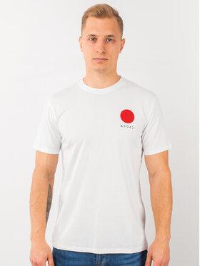 Edwin Edwin T-shirt Japanese Sun Ts I025020 TF10J94 267 Blanc Regular Fit