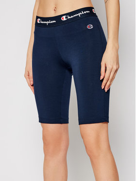 Champion Champion Pantaloni scurți sport Script Logo 112862 Bleumarin Athletic Fit