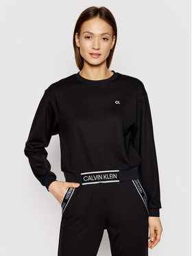 Calvin Klein Performance Calvin Klein Performance Суитшърт Croppped 00GWS1W368 Черен Relaxed Fit