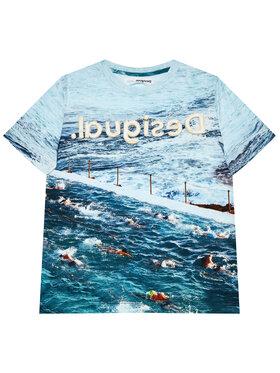 Desigual Desigual T-Shirt Julio 21SBTK05 Modrá Regular Fit