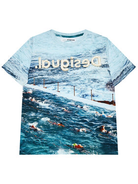 Desigual Desigual T-Shirt Julio 21SBTK05 Niebieski Regular Fit