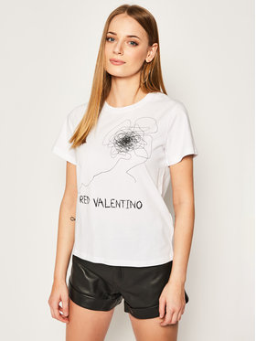 Red Valentino Red Valentino T-Shirt TR0MG05A Biały Regular Fit