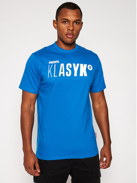PROSTO. PROSTO. Tričko KLASYK Twig 9177 Modrá Regular Fit