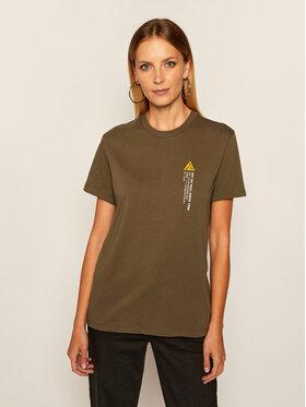 Vans Vans T-shirt 66 Supply Bf Crew VN0A4SCX Vert Regular Fit