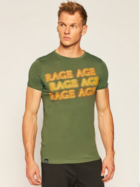 Rage Age Rage Age T-Shirt Heat Zelená Slim Fit