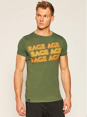 Rage Age Rage Age Tričko Heat Zelená Slim Fit