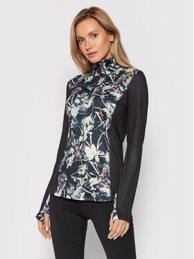Roxy Roxy Tehnička majica Frosted Sunset ERJKT03815 Crna Classic Fit