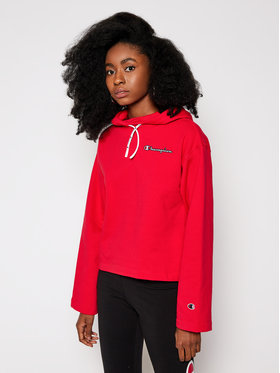Champion Champion Sweatshirt Logo Cropped 113186 Rot Custom Fit