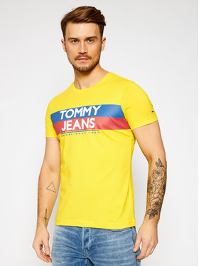 Tommy Jeans Tommy Jeans Marškinėliai Tjm Contrast Color DM0DM09483 Geltona Slim Fit