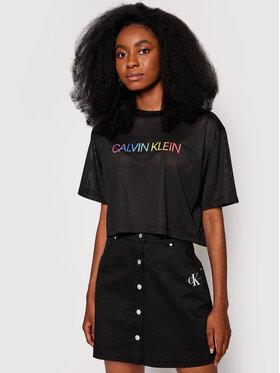 Calvin Klein Swimwear Calvin Klein Swimwear T-shirt Pride KU0KU00083 Crna Regular Fit