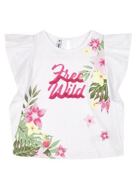 Primigi Primigi T-Shirt Queen Of The Jungle 45222591 Biały Regular Fit