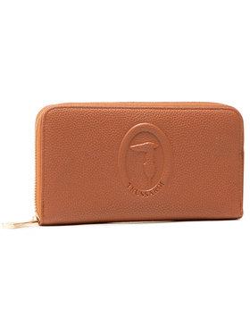 Trussardi Trussardi Veliki ženski novčanik Pre Iris Zip Around 75W00286 Smeđa
