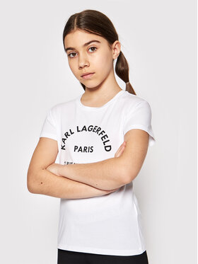 KARL LAGERFELD KARL LAGERFELD T-shirt Z15M59 S Bijela Regular Fit