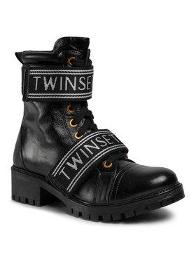 TwinSet TwinSet Ορειβατικά παπούτσια Anfibio 201TCP132 Μαύρο