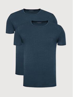 Emporio Armani Underwear Emporio Armani Underwear 2-dílná sada T-shirts 111267 1A717 25234 Tmavomodrá Regular Fit