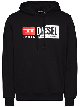 Diesel Diesel Džemperis S-Girk-Hood-Cuty A00339 0IAJH Juoda Regular Fit